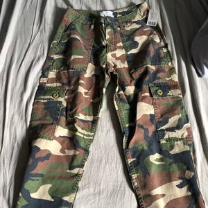 URBAN OUTFITTERS: camo cargo pants.